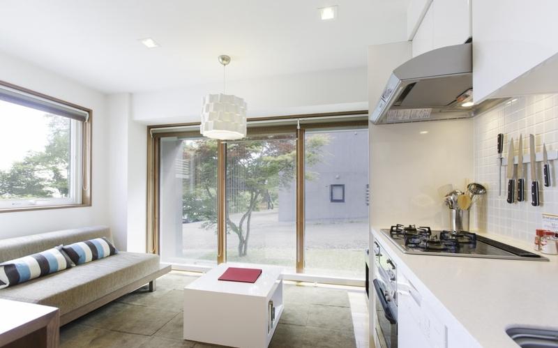 KON M Studio Living Room and Kitchen