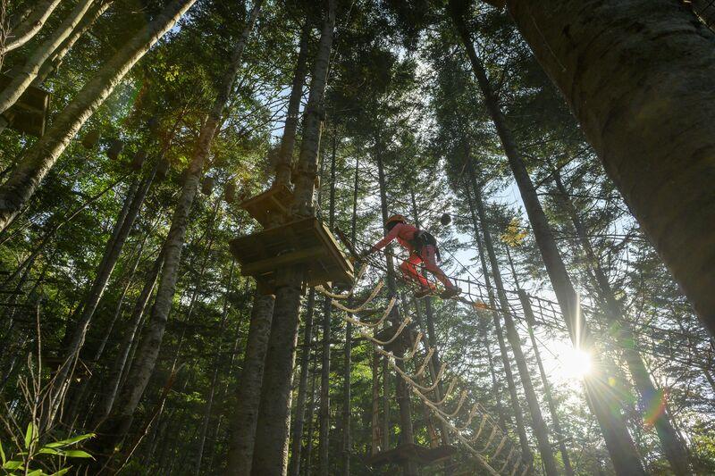 日本親子自由行-北海道最大規模的樹上冒險活動中心就在花園度假村!