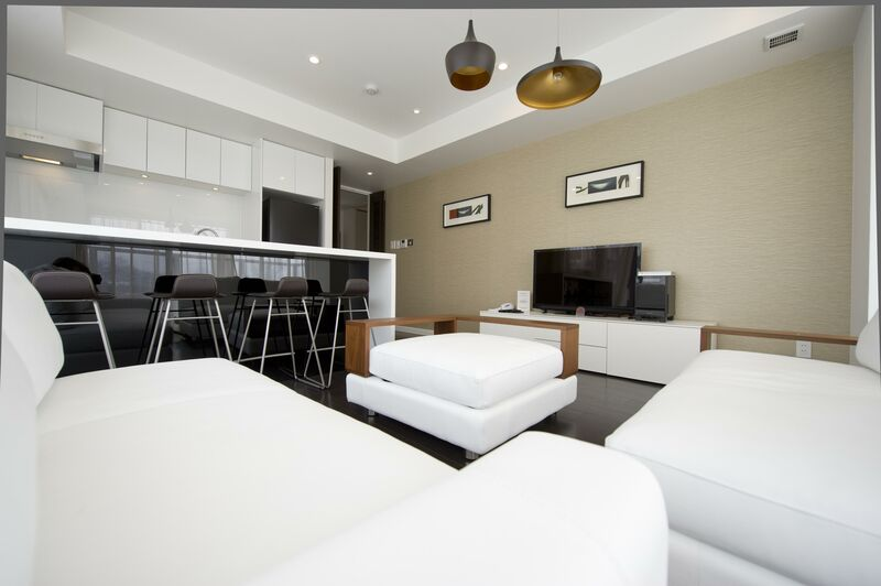 Kizuna 1-bedroom Premium Apartment - Living Room