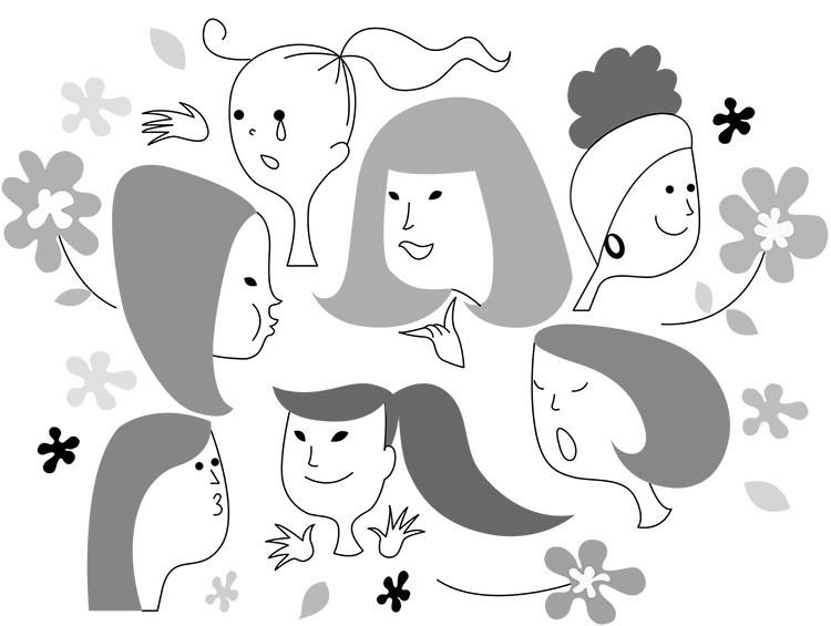 女子会のイラスト
