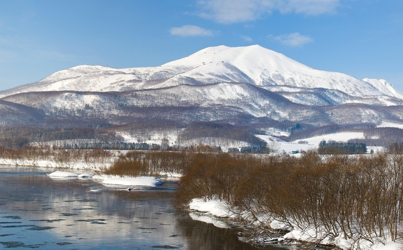Ski with Mount Yotei in Niseko