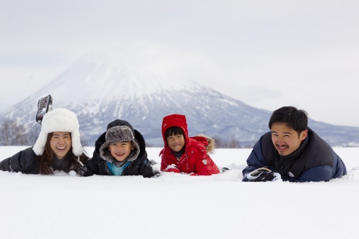 Family Shot in Niseko