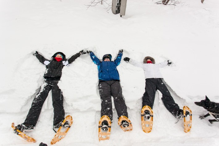Snow angels in Niseko
