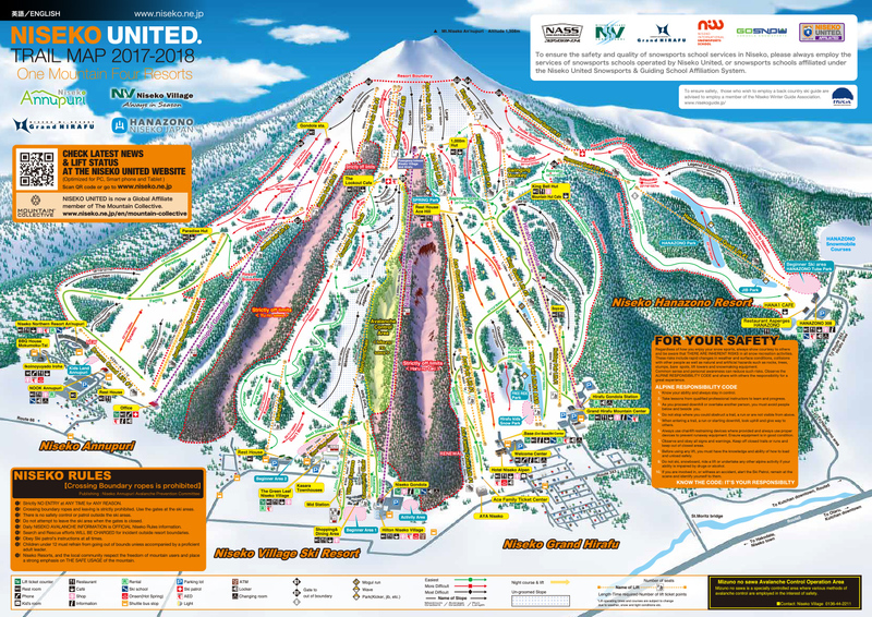 Niseko Trail Map 2017-18