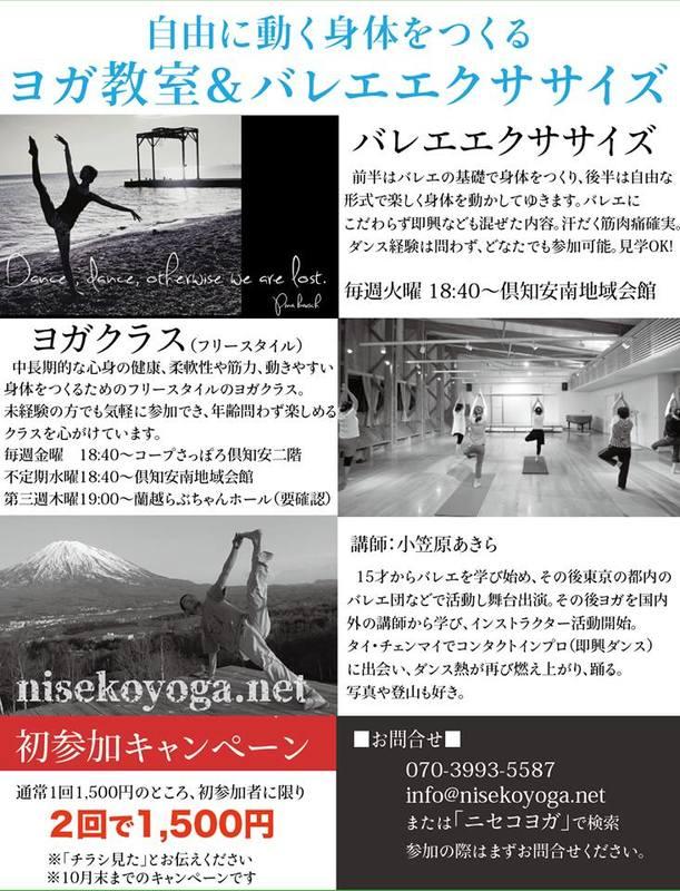 ニセコヨガのクラス詳細