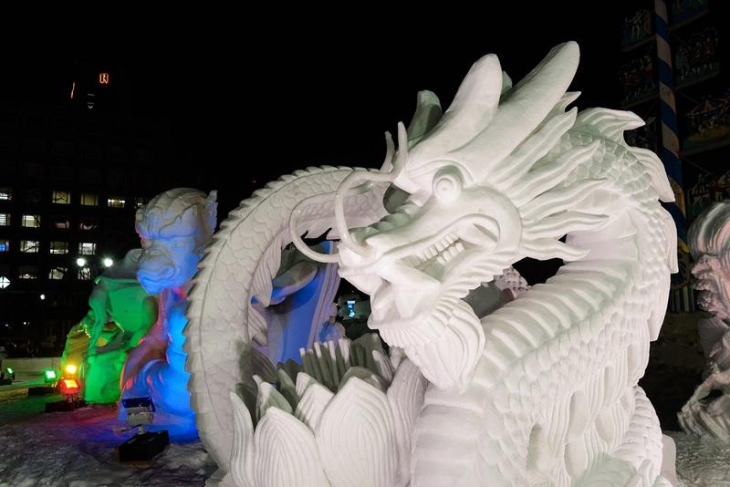 Sapporo Snow Festival Sulpture