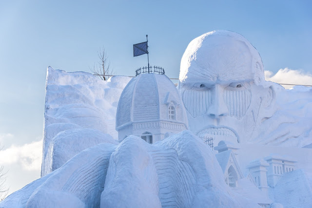 Giant snow sculptures at Sapporo Snow Festival