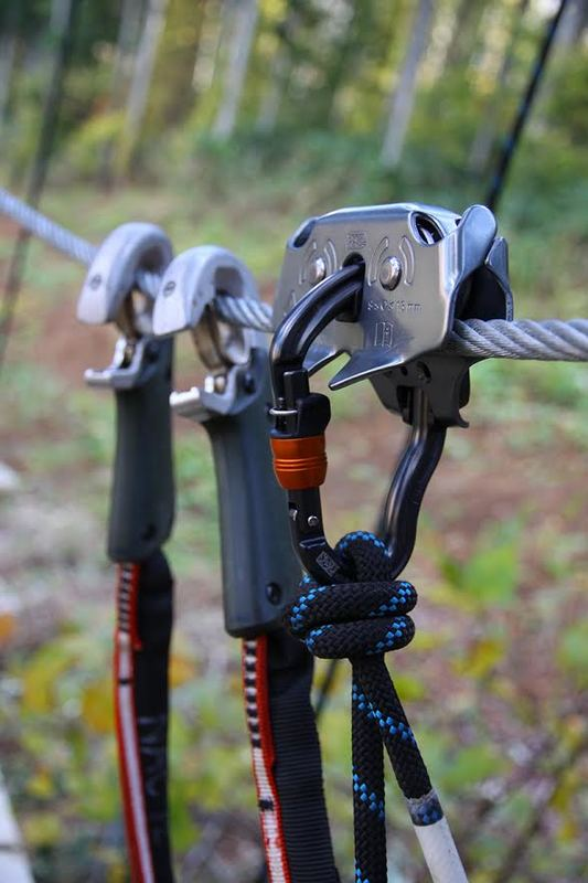 Clips attached ready to zip line (picture from NAC website)