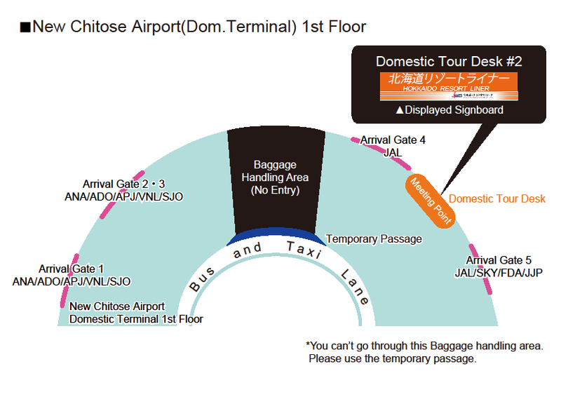resort liner domestic airport meeting point