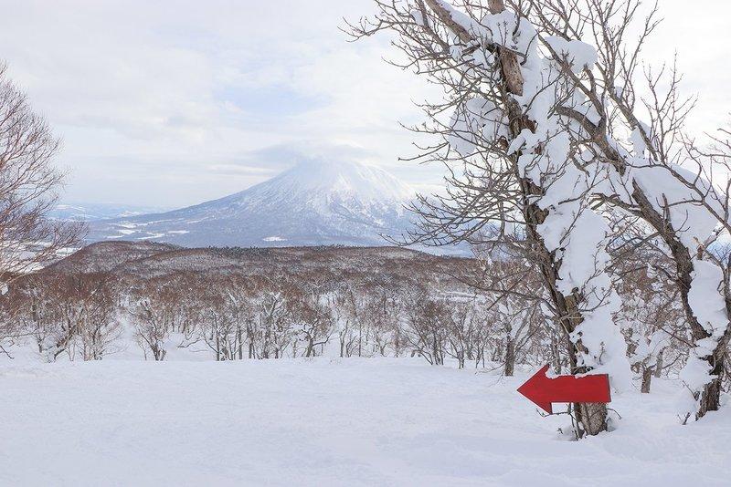 2018年大雪のニセコと羊蹄山
