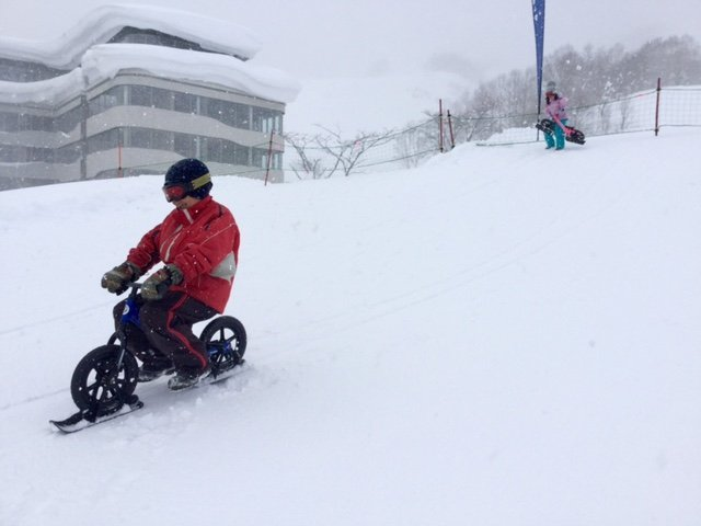 niseko grand hirafu kids park snow bike