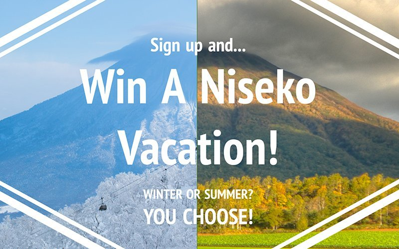 vacation niseko newsletter giveaway
