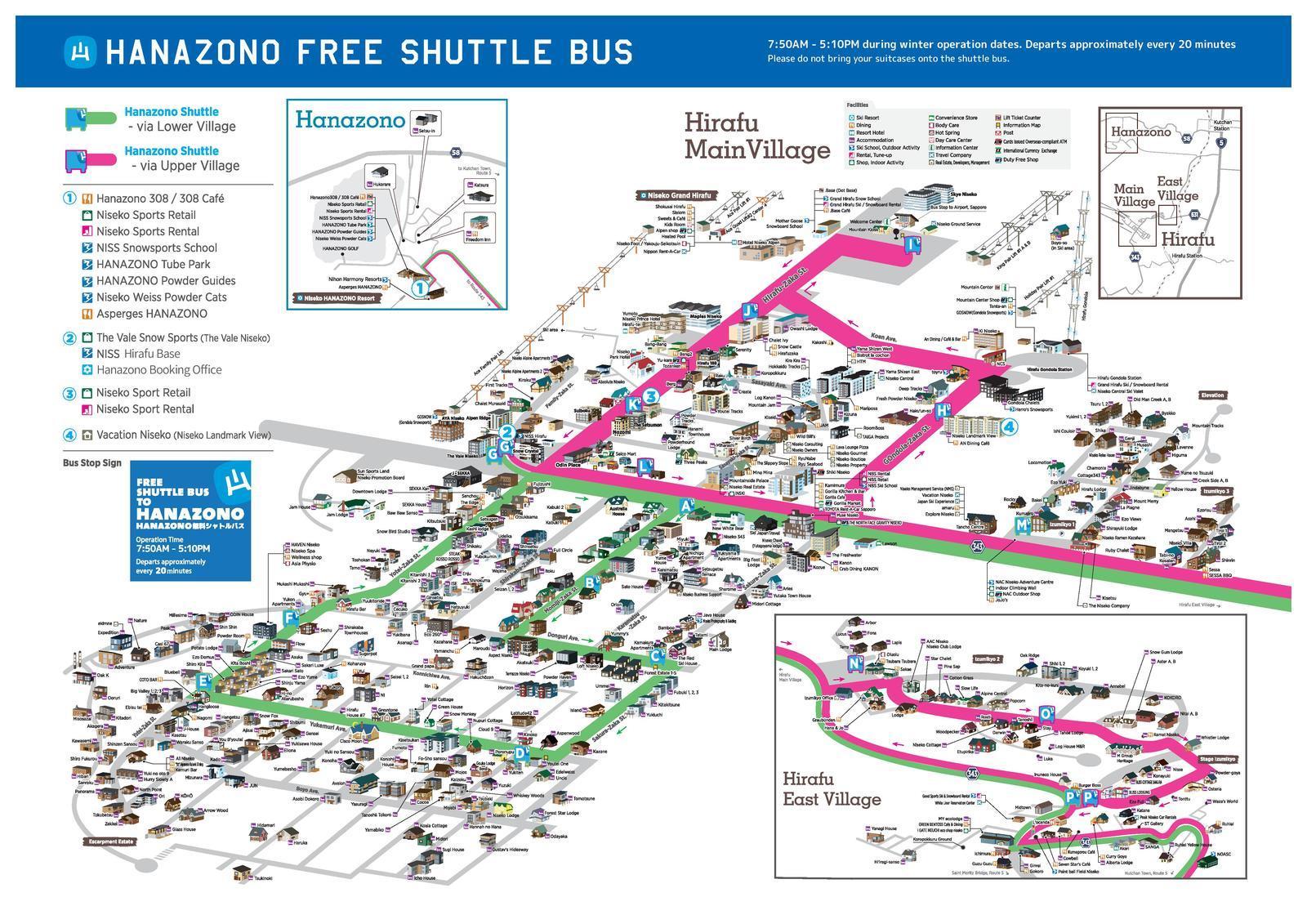 hanazono bus schedule