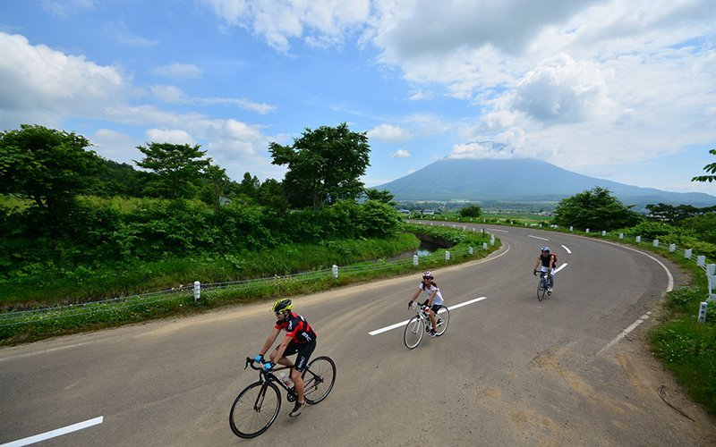cycling niseko road bike summer