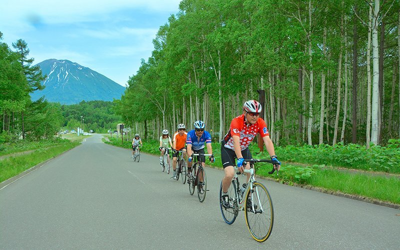 summer road biking in niseko