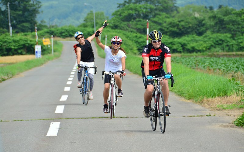 cycling niseko summer fun road biking