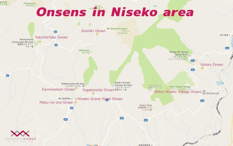 niseko onsen map