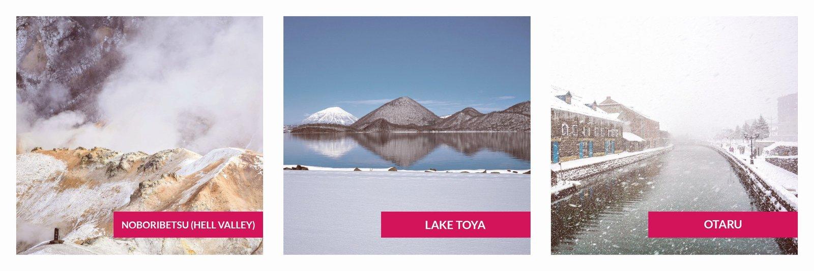 Winter Daytour (Noboribetsu - Lake Toya - Otaru)