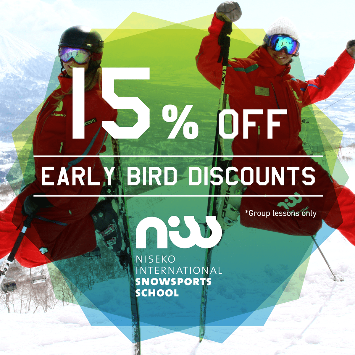 niss early bird special ski lessons niseko