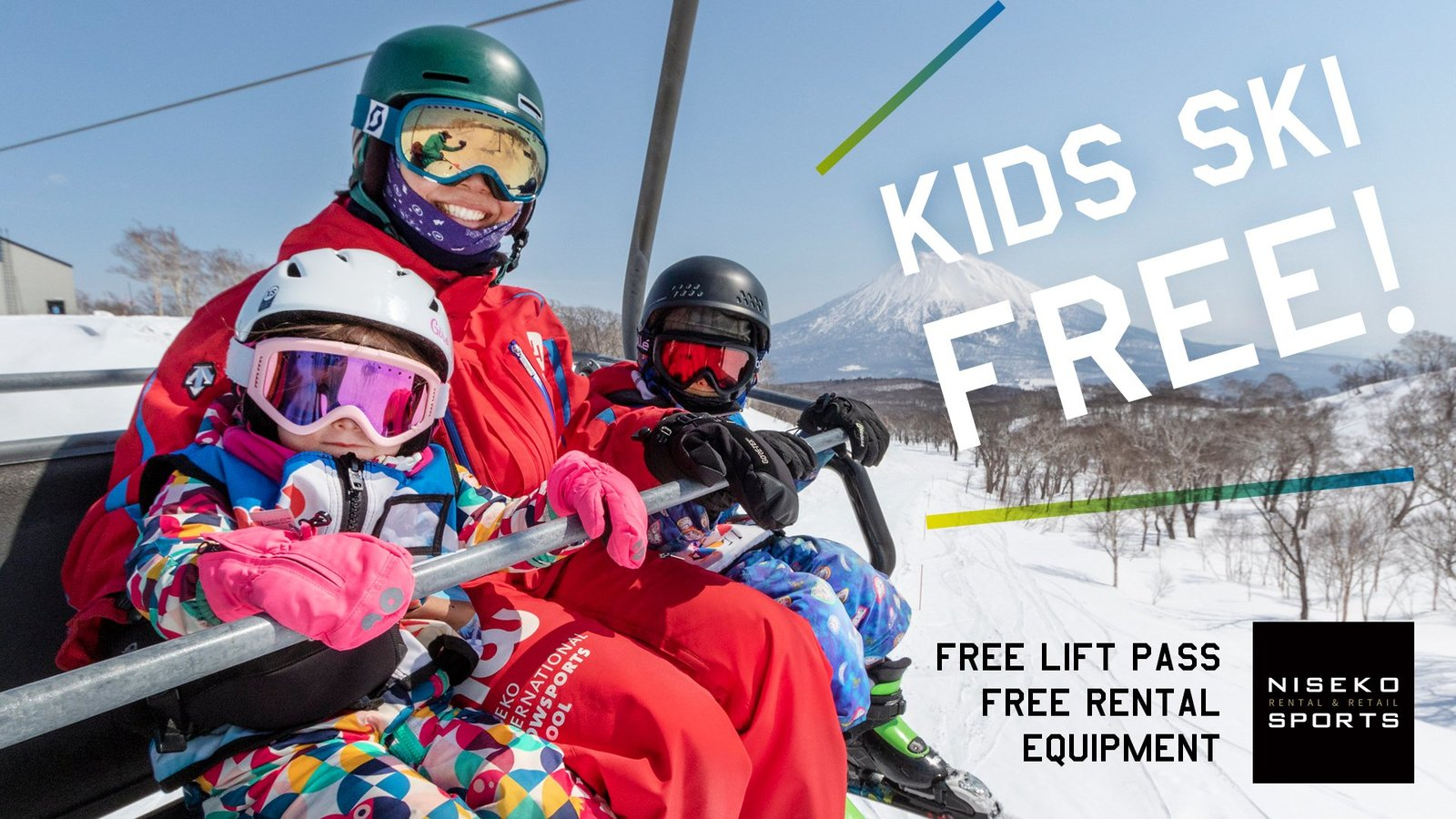 kids ski free vacation niseko