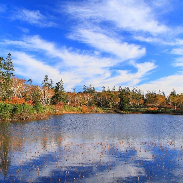 ニセコ 秋の鏡沼