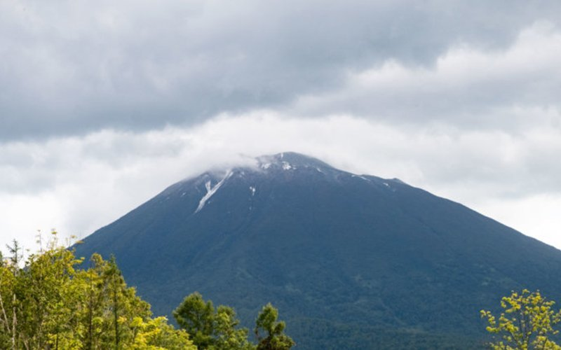 The first snow in Niseko on Mt Yotei in mid September, 2019.
