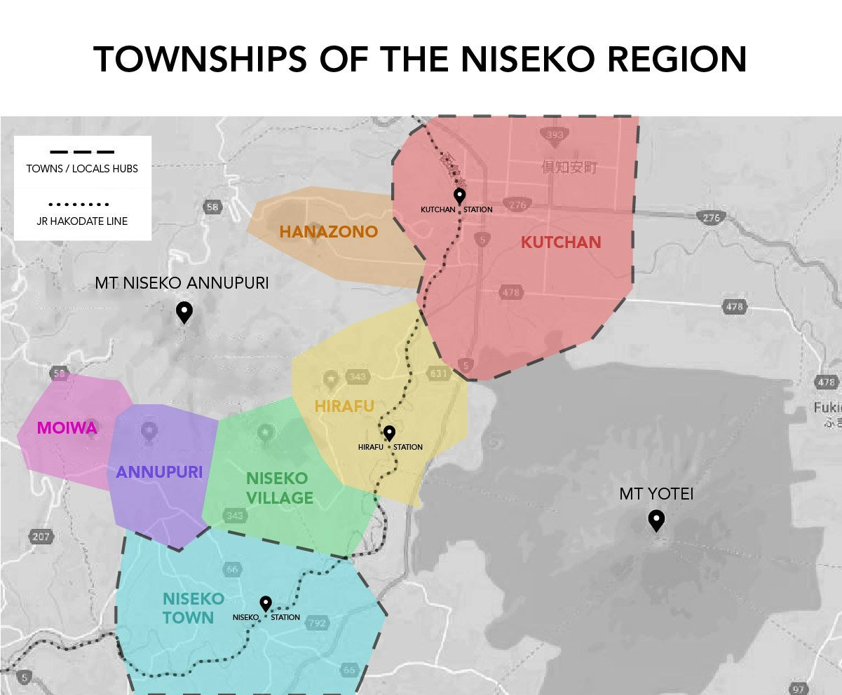 the townships of the niseko region.