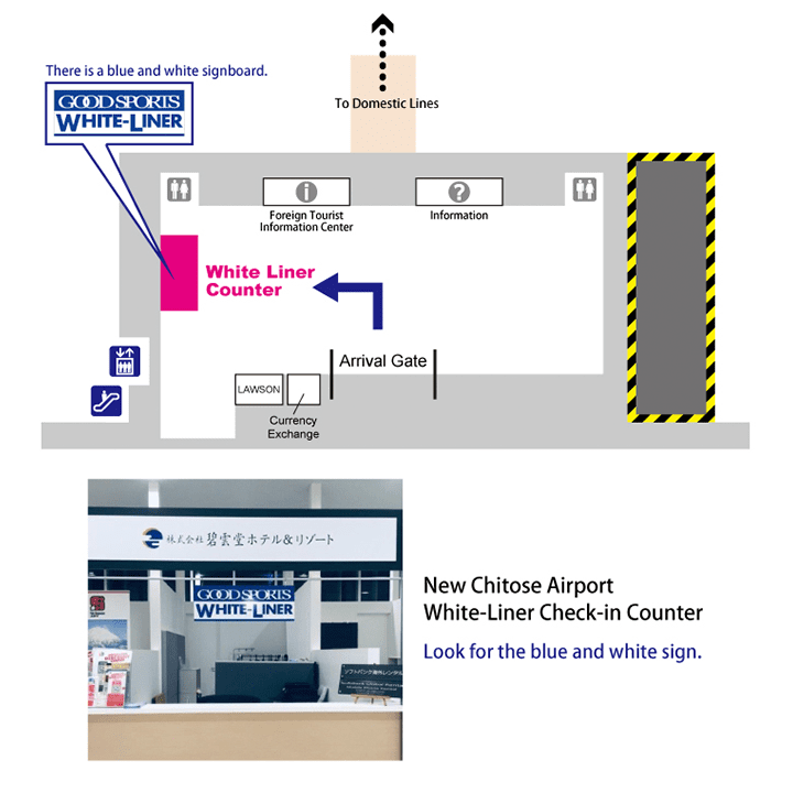 white liner international meeting point airport 2019