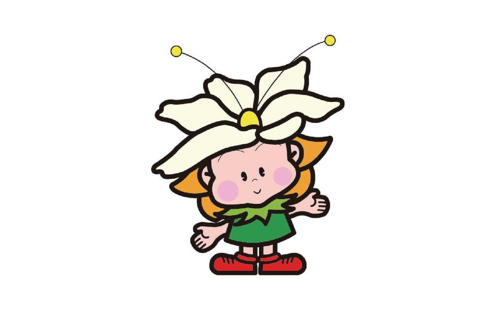 rabu chan is the flower mascot for rankoshi town in hokkaido japan