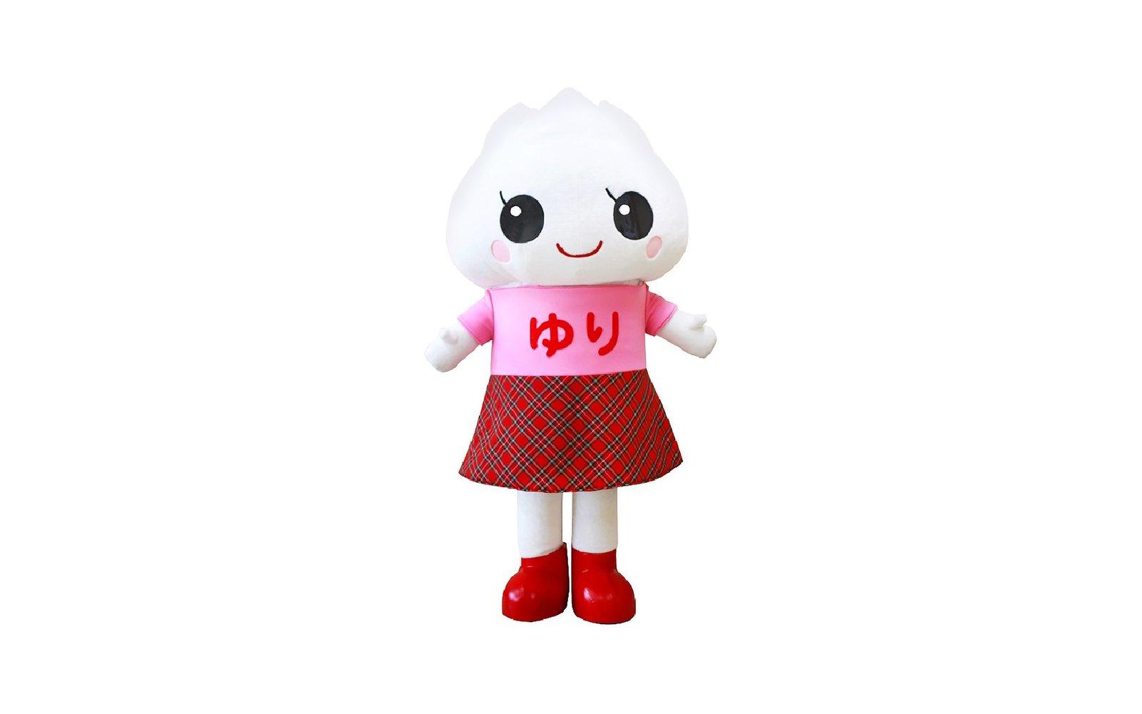 yurineh san is the lily bulb mascot of makkari town hokkaido japan