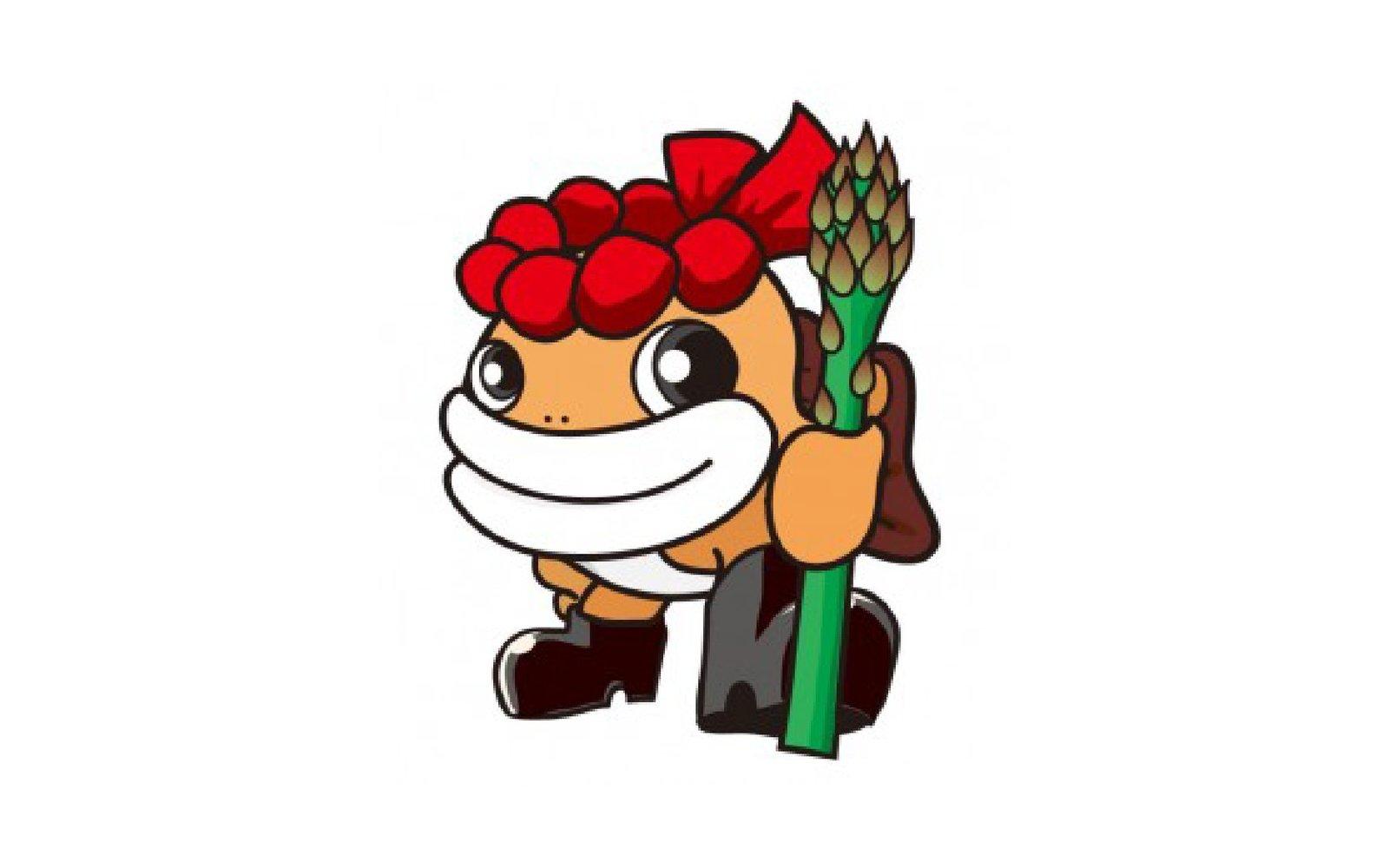 taramaru is a pollock fish mascot representing iwanai in hokkaido japan