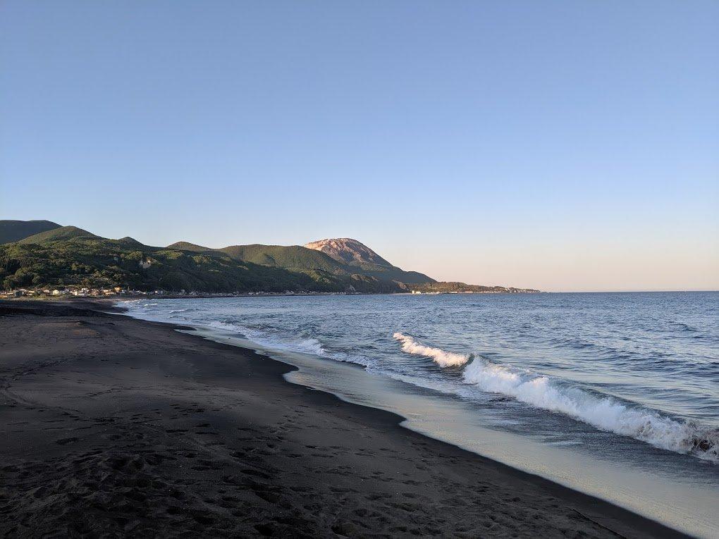 mt esan beach view hokkaido