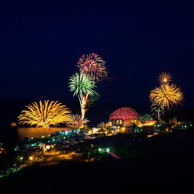 Vacation niseko lake toya fireworks summer medium
