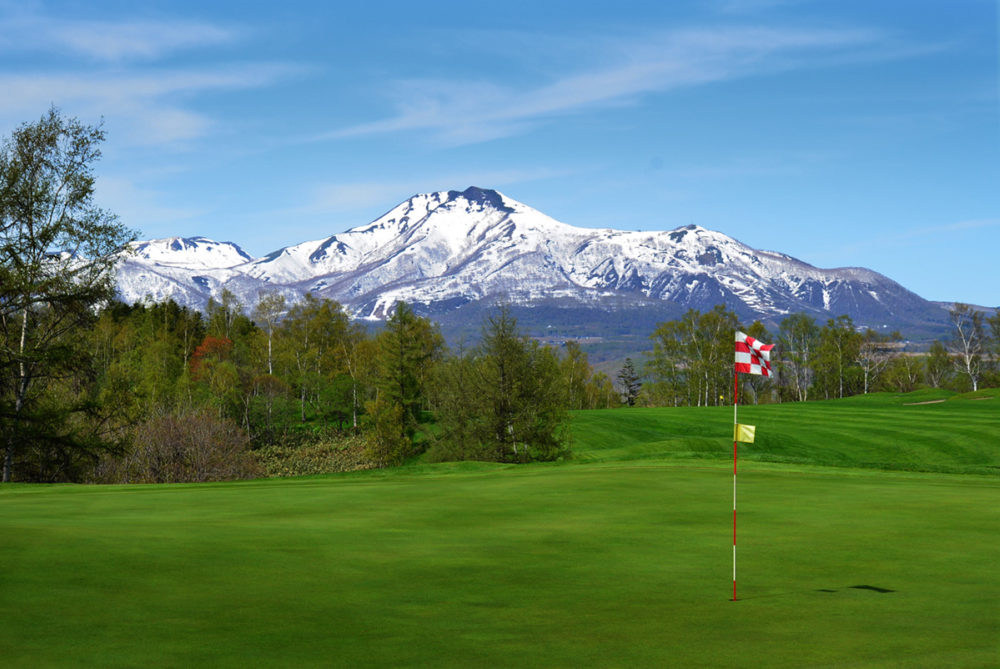 A clear day with a view of Mt Yotei from Niseko Golf Course.