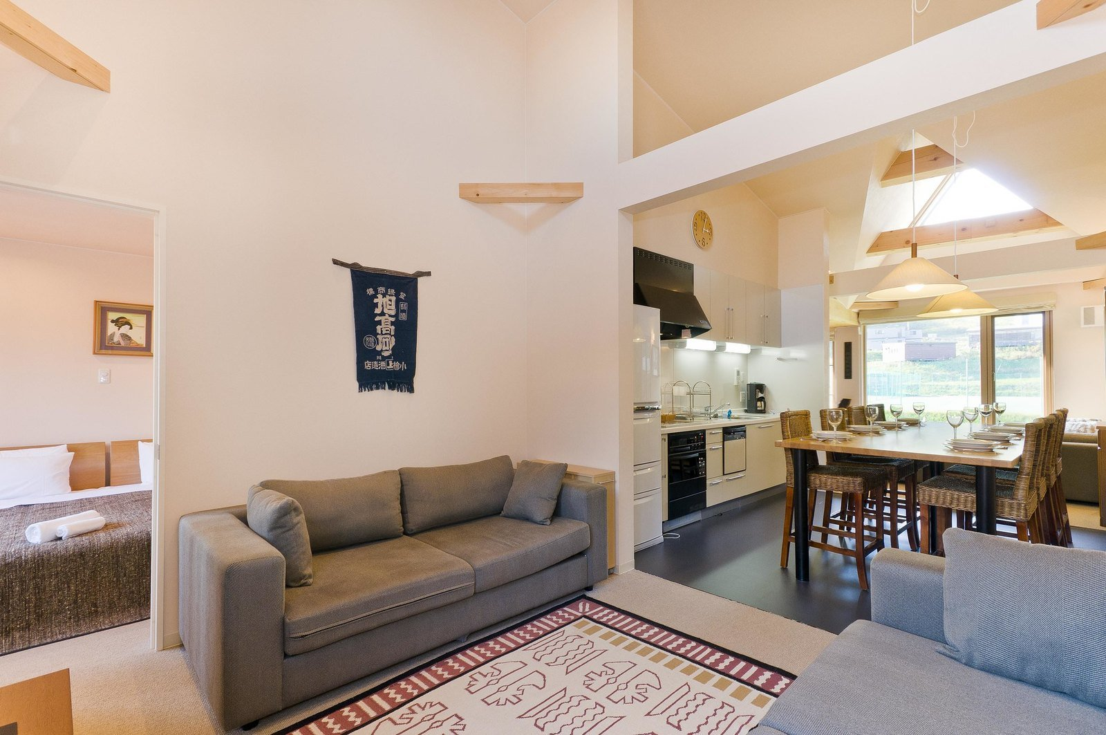 A 4 bedroom townhouse in Gondola Chalets, Niseko.