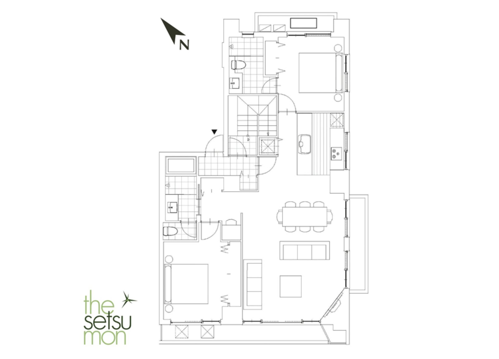 Setsumon 2 bedroom premier apartment 2021 large