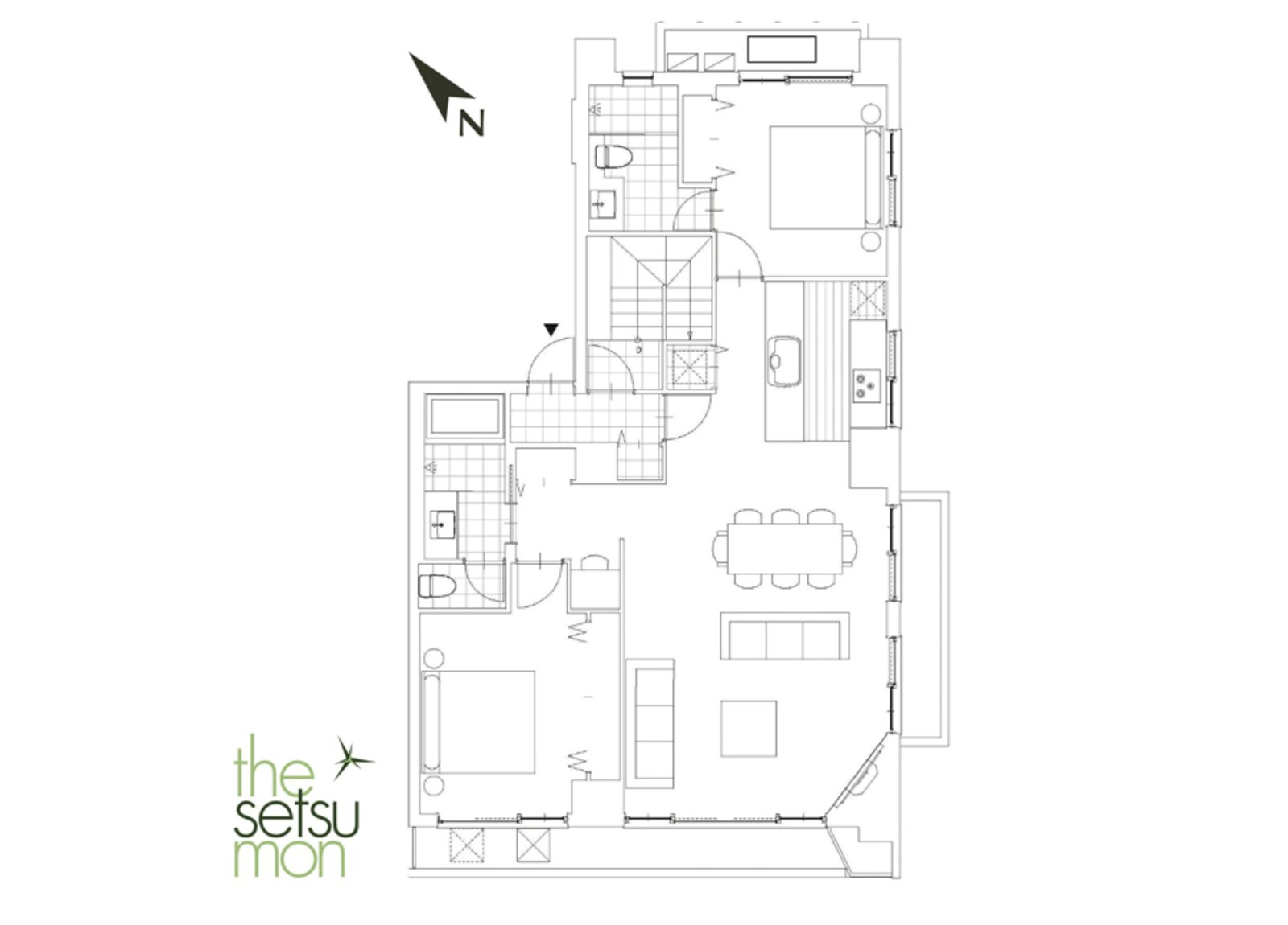Setsumon 2 bedroom premier apartment 4011 large