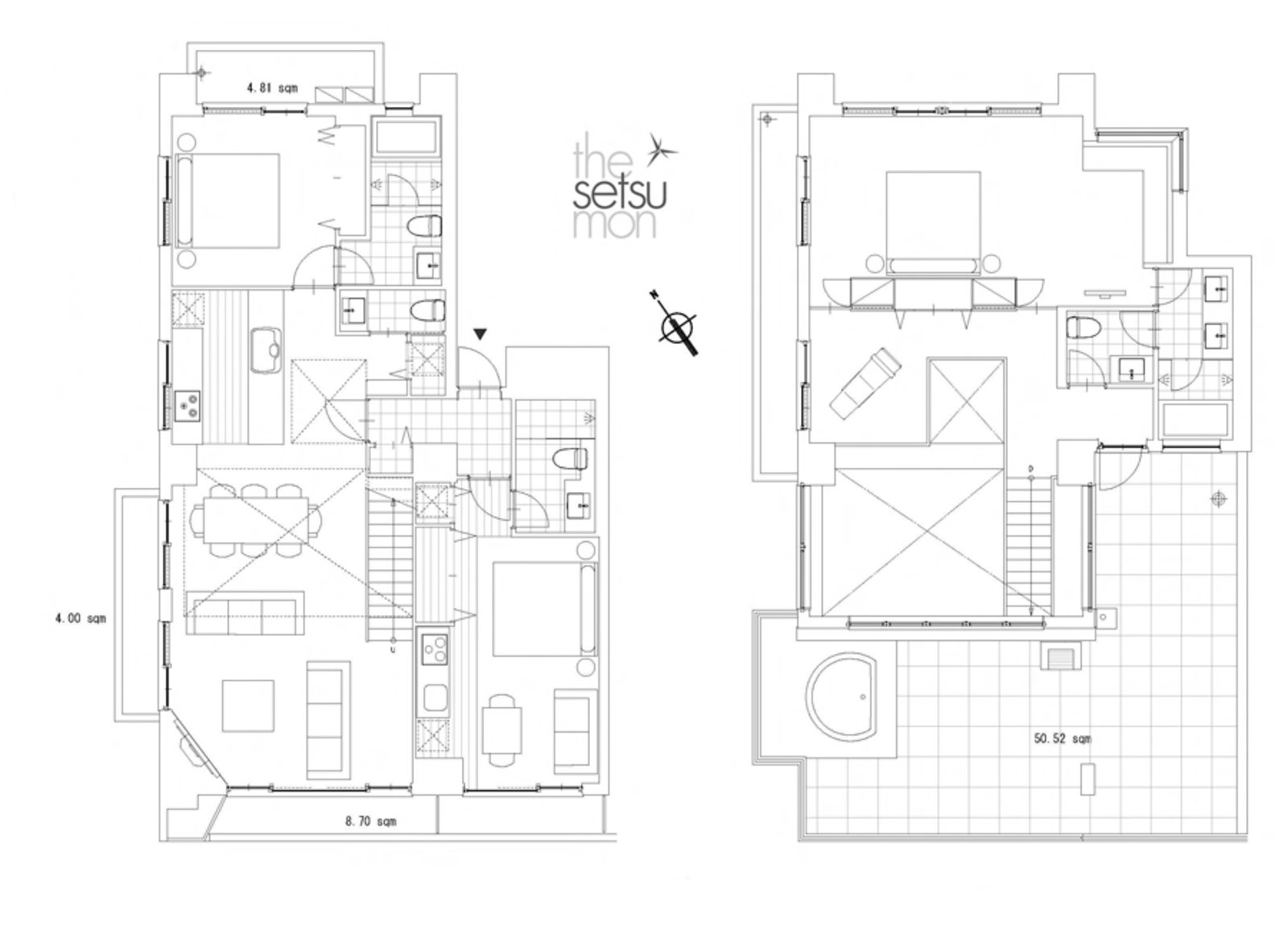Setsumon 3 bedroom penthouse apartment 501 floo large