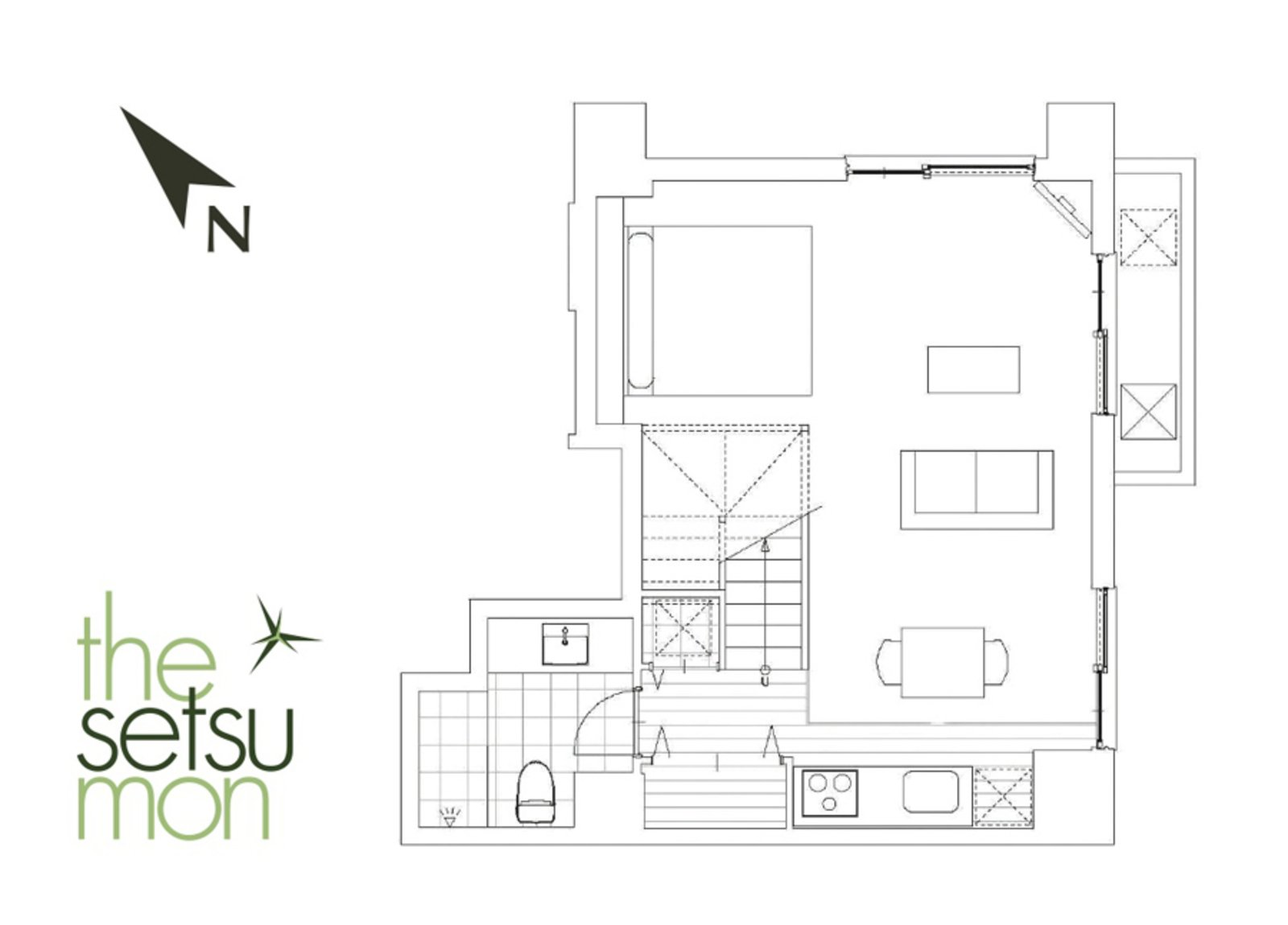 Setsumon studio apartment 202s 401s 402s large