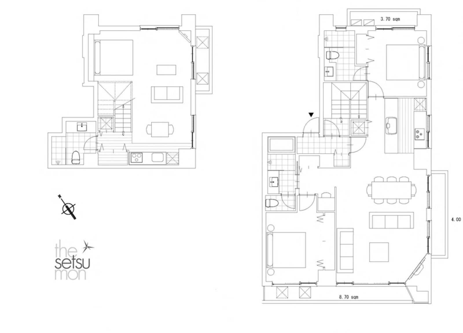 Setsumon 3 bedroom premier apartment 202 floor large