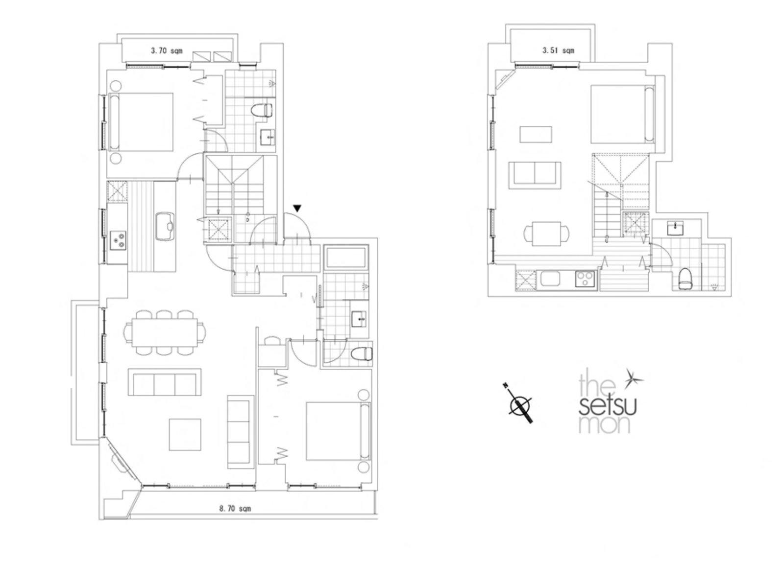 Setsumon 3 bedroom premier apartment 401 floor large