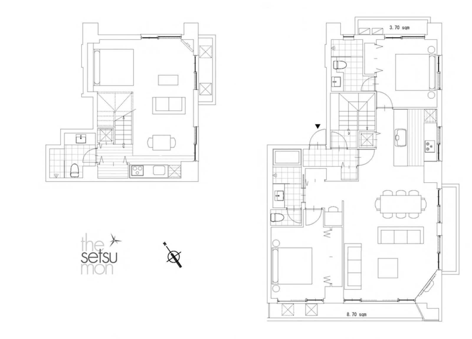 Setsumon 3 bedroom premier apartment 402 floor large