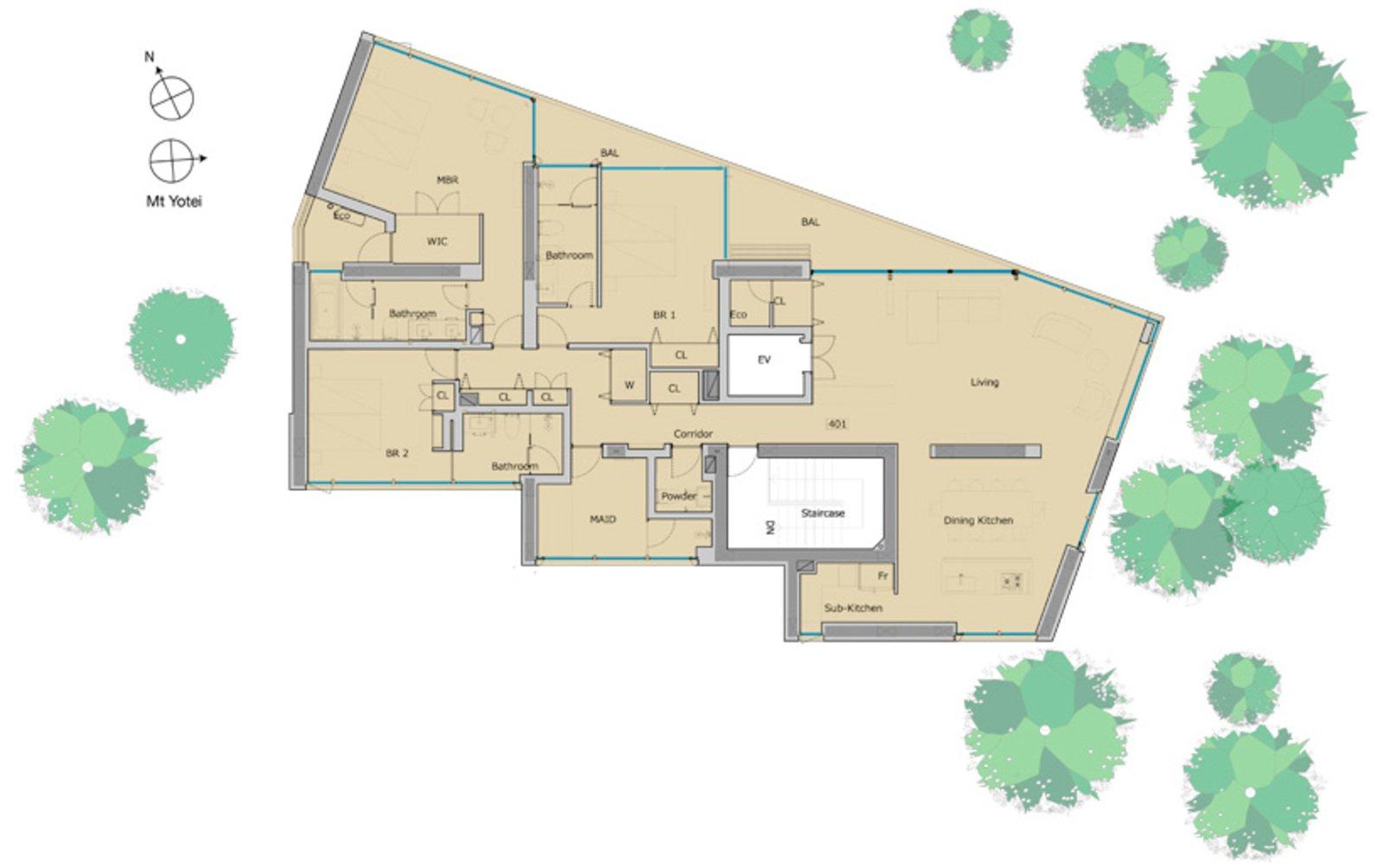 Kozue floorplan unit 401 large