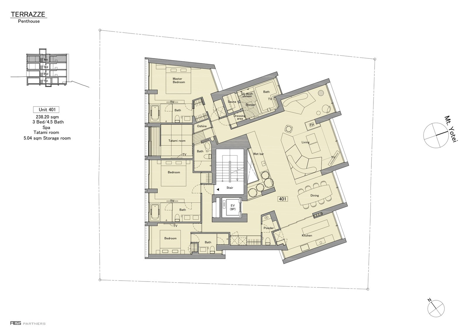 Terrazze penthouse floor plan large
