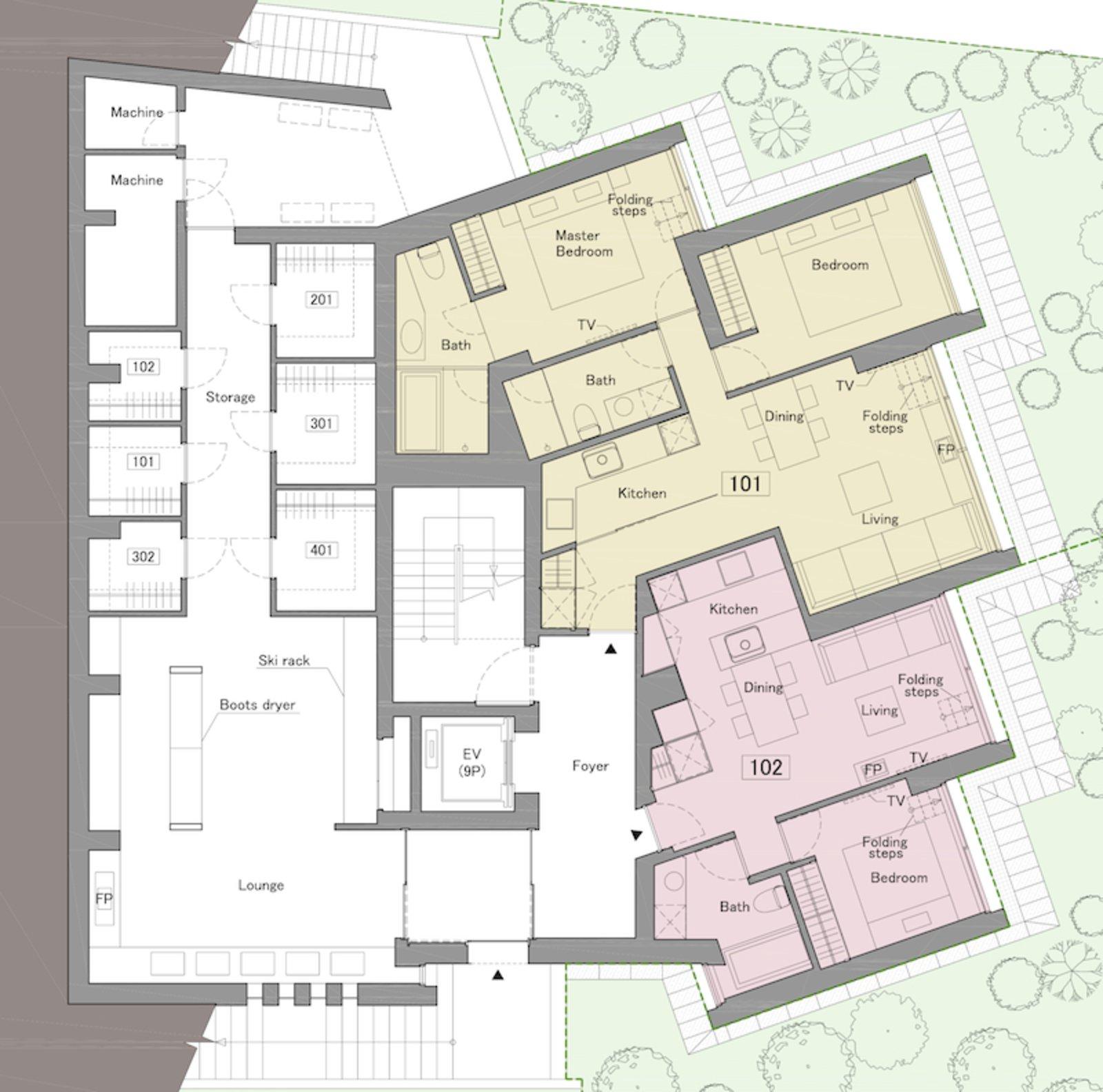 Terrazze niseko 1st floor 2bdr alpine large