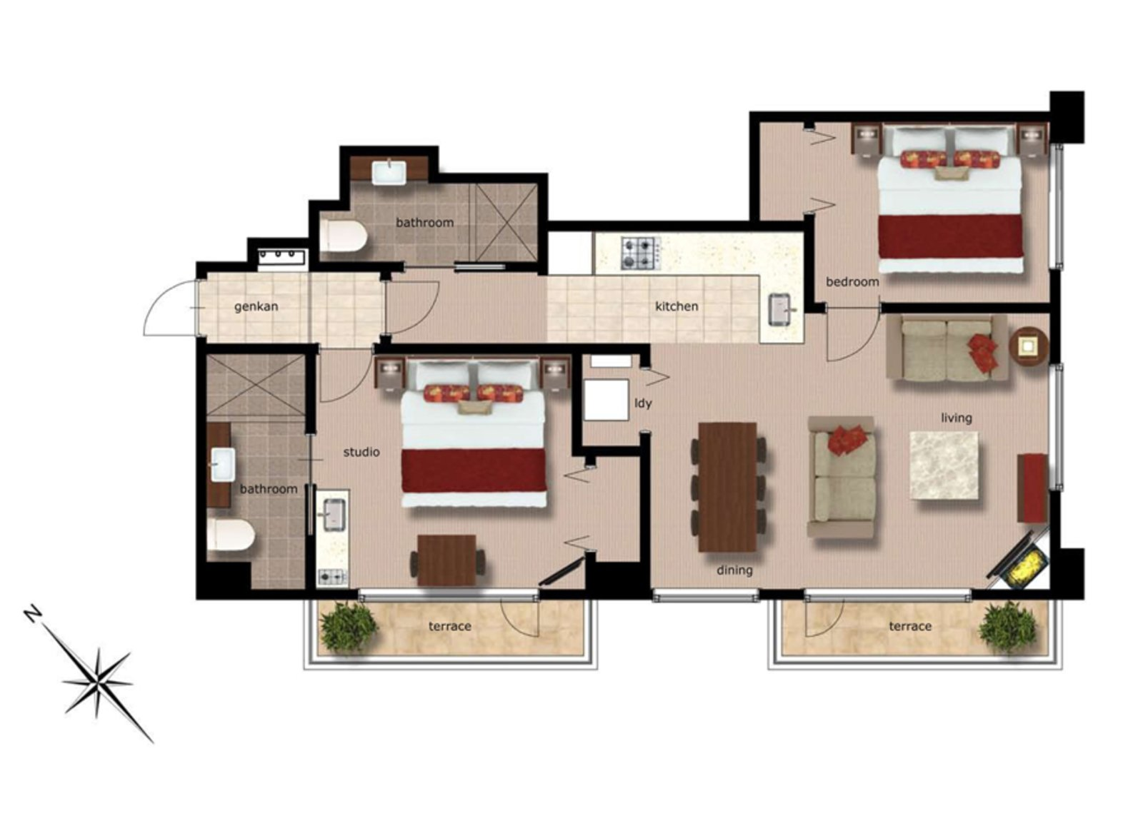 Freshwater 2 bedroom freshwater apartment 03 large