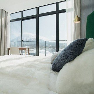 LOFT Niseko Bedroom with Yotei view.