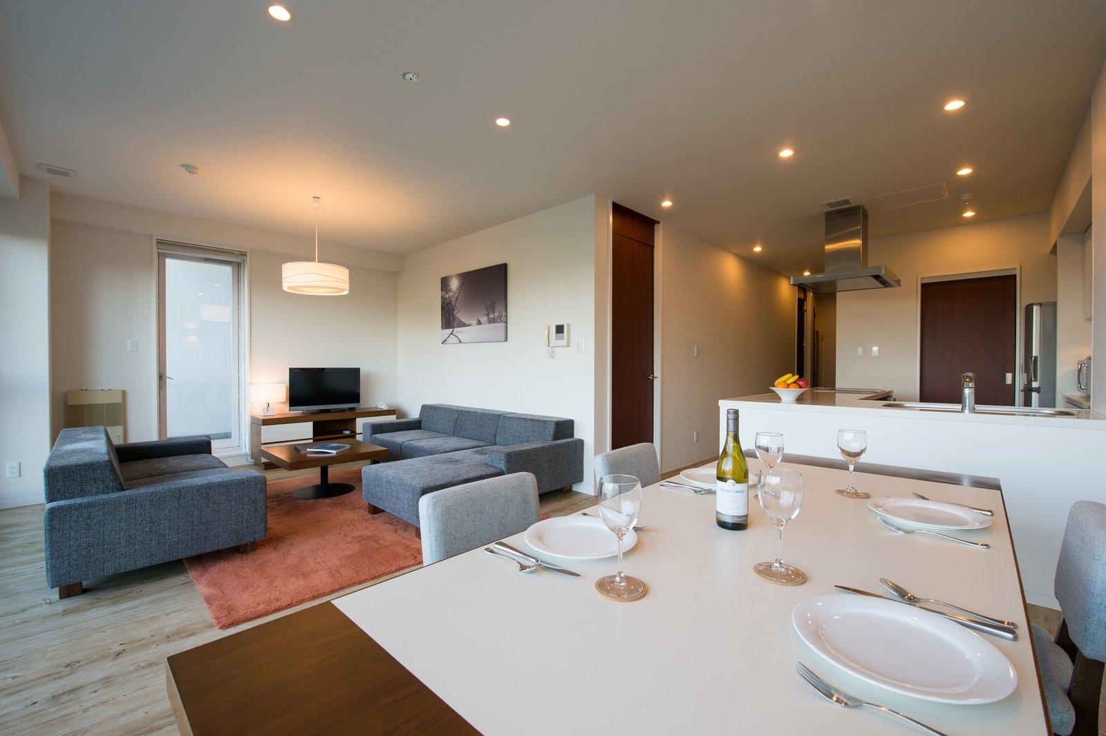 Niseko landmark view 2 bedroom deluxe dining room large