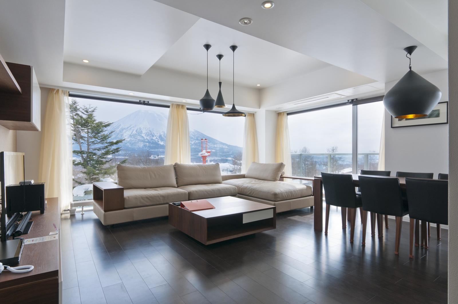 Kizuna 2 bedroom premium apartment living room large