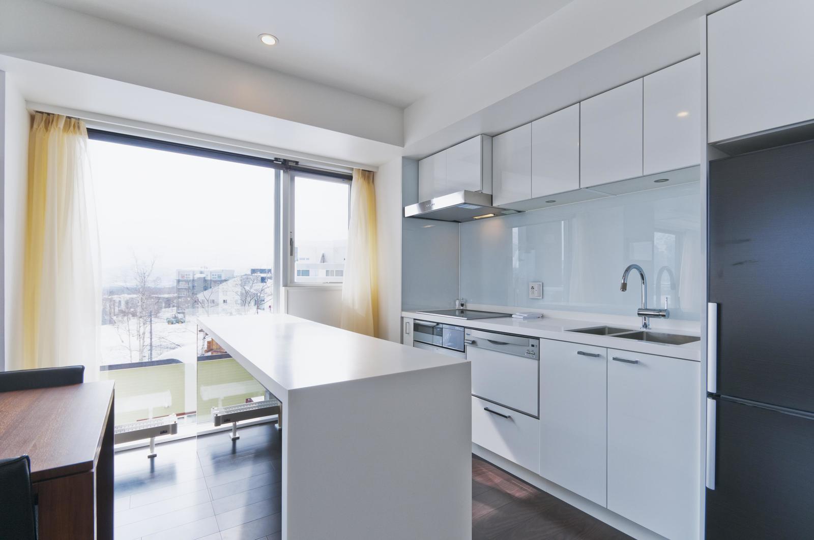 Kizuna 2 bedroom premium apartment kitchen large